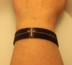 Items similar to Beaded Miyuki Bracelet on Etsy Loom Bracelet Patterns, Bead Loom Bracelets, Bead Loom Patterns, Beading Patterns, Loom Beading, How To Make Beads, Bead Crafts, Bead Weaving, Handmade Bracelets