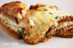 Lighter Eggplant Parmesan | Skinnytaste Can't wait to try this eggplant park from my favorite cooking blog and cookbook!!!  Tried lots and haven't found something I haven't liked!