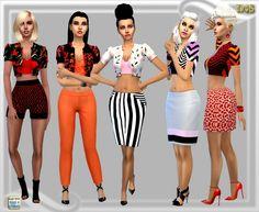 Short jacket top at Dreaming 4 Sims via Sims 4 Updates