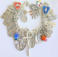 All Saints Religious Charm Medals  Bracelet