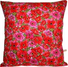 Handmade Vintage Cushion Red Poppies by Paisley Fox £22.00