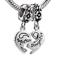 Mother And Daughter 925 Sterling Silver Style Pandora Beads