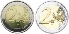 Common side of the 2 euro coin: EU-only map with borders (1999) vs. map of the whole continent of Europe without borders (2007)