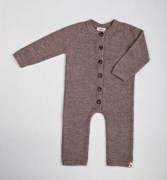 Baby Alpaca Wool Brown Jumpsuit