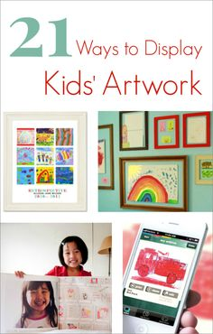 Ways to display kids artwork that honors their creativity, looks good in your home, and is easy to switch out art pieces regularly as they create more art.