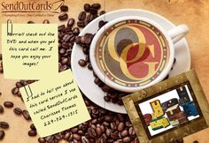 Here is a customized card that I created for someone with a Organo Gold business. This was done with our SendOutCards card service. http://CustomCardDiva.com