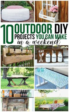These outdoor DIY projects will add tons of interest to your yard and can all be made in one weekend! Hammock Frame, Diy Hammock, Hammock Stand, Hammock Ideas, Hammocks, Rustic Outdoor Spaces, Outdoor Decor, Outdoor Fun, Homemade Hammock