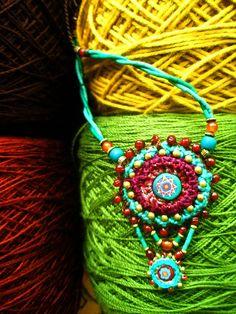 ~ crochet with handmade bead ~ | Flickr - Photo Sharing!