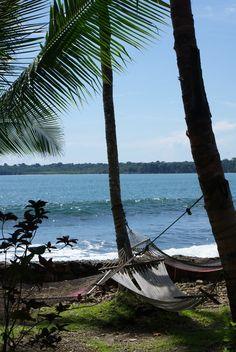 Cahuita, Costa Rica @ Sojourner's Sojourns www.travelblog.sojournerwalker.com #costa rica #cahuita #island #hammock #ocean