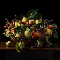 Blackberries and Peaches, After G.G. 2013 © Paulette Tavormina
