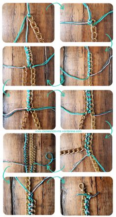#DIY braided #chain #necklace tutorial from www.clonesnclowns.wordpress.com ! Click for full instructions & hot tips ! #crafts #braid #fashion #SS12 #summer
