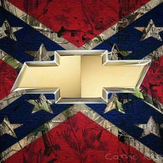 killing two birds with one stone for southern pride with the rebel flag with Chevy emblem Diesel Trucks, Lifted Trucks, Chevy Trucks, Lifted Chevy, Pickup Trucks, Southern Heritage, Southern Pride, Southern Style, Southern Girls