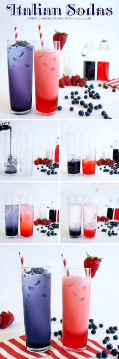 Italian Cream Soda Recipe fill glass with ice. add flavored syrup 1/4 way full, add club soda till almost full. top with 1/2 and 1/2. stir. garnish with fruit.