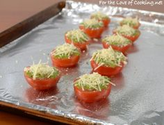 Roasted Tomatoes with Pesto and Parmesan