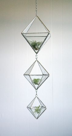 Terrarium Stained glass hanging terrarium by Crystallographie, $115.00