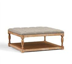 Formal living room? Cassandra Upholstered Storage Ottoman #potterybarn