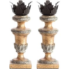 Aidan Gray Decor Painted Gold Mini Candlestick Set of 2 ($105) ❤ liked on Polyvore featuring home, home decor, candles & candleholders, candles, gold home accessories, aidan gray, gold taper candles, mini taper candles and mini candles