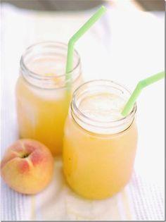 Lemonade recipe peach in mason jar