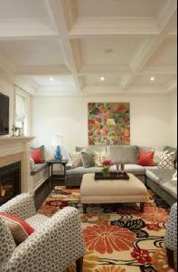 Furniture arrangement for Den