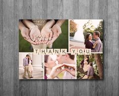 Scrabble Thank You Postcard or Folded Card - Printable $15.00 Perfect to have with wedding photos or engagement photos and use after bridal shower!
