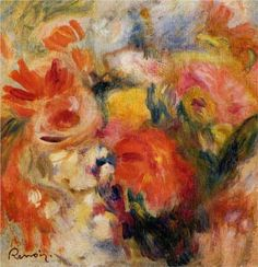 Flower Study, 1913, Private Collection (Pierre-Auguste Renoir)    Style: Impressionism  Period: Later years  Genre: Flower painting