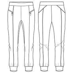 7ca29468f Babucha Deportirva 732   Pantalones   DAMA   Patrones Industriales de Moda