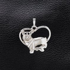 """Sterling Silver Welsh Corgi Pendant w/18"""" Sterling Chain by Donna Pizarro fr Animal Whimsey Collection of Dog Jewelry and Corgi Jewelry by DonnaPizarroDesigns on Etsy https://www.etsy.com/listing/181792572/sterling-silver-welsh-corgi-pendant-w18"""