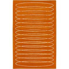 Solid Bold - Cylinder Burnt Orange #modernrugs #colorfulRugs #coolRugs #ModRugs #OrangeRug