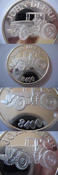 dcfb1a4fbbb76d Bullion  1-Oz Rare John Deere Tractor Model 8400 Engravable .999 Silver Coin