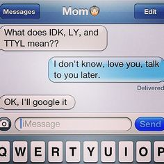 texting with Mom http://ift.tt/2eRfvH7