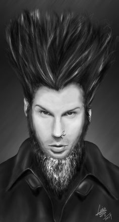 And I'm back with this simple tribute to Wayne Static who passed away at 48 circa two weeks ago. Wayne Static (Static-X) Wayne Static, Static X, Good Music, My Music, Photo Illustration, Illustrations, Having A Bad Day, Playing Guitar, To My Future Husband