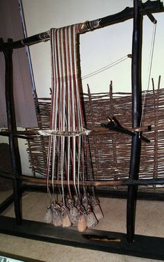 Reconstruction-of-neolithic-loom - Warp-weighted loom - Wikipedia, the free encyclopedia