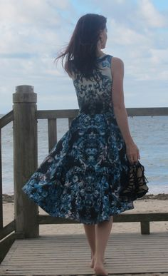By Hand London Flora Dress. Love this amazing fabric - given to me by Tessuti Fabrics in Sydney