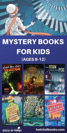 Middle grade mystery books for kids. Mystery books for grade. Mystery books for grade. Mystery books for grade. Books about sleuthing and amateur detectives for kids. Mystery books reading list for nine year olds, ten year olds, and eleven year Audio Books For Kids, Books For Boys, Childrens Books, Best Mystery Books, Mystery Novels, 4th Grade Reading, Kids Reading, Reading Lists, Good Books