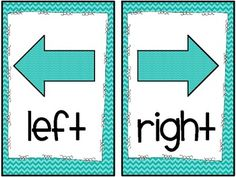 "Something EVERY room in a school would have posted.  Chevron ""Right/Left"" Directional Mini-Signs (freebie)"