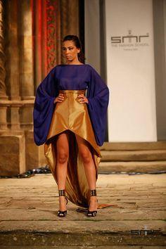 My Second University Runway! Gold&Blue Dress Ancient Goddes Style <3 Fashion