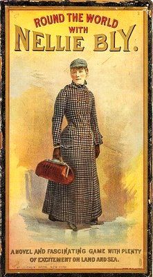 November 14, 1889 – Pioneering female journalist Nellie Bly (aka Elizabeth Cochrane) begins a successful attempt to travel around the world in less than 80 days. She completes the trip in 72 days.