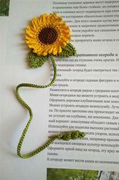 Trendy crochet gifts for teachers etsy ideas Crochet Bookmark Pattern, Crochet Bookmarks, Crochet Books, Crochet Patterns Amigurumi, Crochet Stitches, Knitting Patterns, Crochet Sunflower, Crochet Flowers, Crochet Cactus