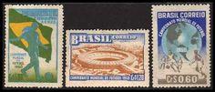 1950 - selos comemorativos da copa do mundo realizada no Brasil