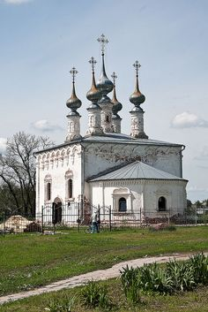 Suzdal church, Russia. Входо-Иерусалимская церковь
