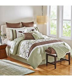 LivingQuarters French Garden 10-pc. Comforter Set | Herberger's