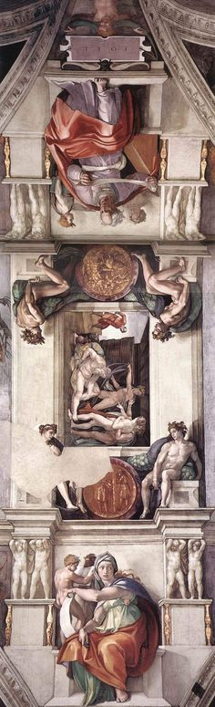 Michelangelo - Fresco of the ceiling of the Sistine Chapel - Vatican City. Caravaggio, Chef D Oeuvre, Oeuvre D'art, Sistine Chapel Ceiling, High Renaissance, Renaissance Paintings, Famous Art, Classical Art, Italian Art