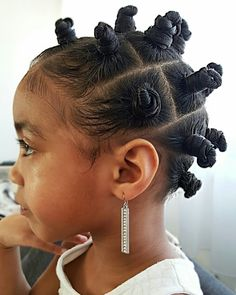 Bantu knots- Natural hairstyles for kids