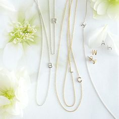 Maya Brenner Asymmetrical Initial Necklace, Sterling Silver