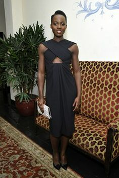 Pin for Later: Lupita Is Not Only People's Most Beautiful, She's Also America's Most Stylish Lupita Nyong'o at the W Golden Globes Party Lupita wore a little black dress from Proenza Schouler to W Magazine's pre-Golden Globes party. Kate Bosworth, Michelle Monaghan, Lupita Nyongo, Amy Adams, Hollywood, Red Carpet Dresses, Red Carpet Looks, Mode Inspiration, Fashion Inspiration