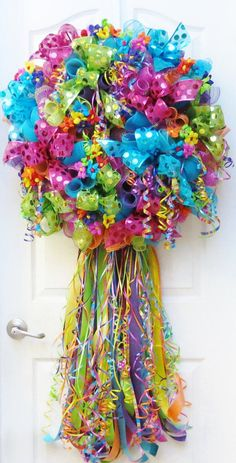 Fiesta Wreaths, Wreath for fiesta, Cinco De Mayo Wreath, FIESTA, Spring Wreath, Celebration Wreath, Fiesta San Antonio, Party Decor Celebrate Fiesta, Cinco De Mayo or any special occasion with this dazzling and bright beauty! This eye catching Fiesta wreath is packed full of metallic