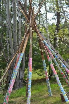 Twig and Toadstool: Scrap Fabric Teepee-Part Two