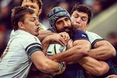 "World Rugby on Instagram: ""IT'S MINE! Scotland's Josh Strauss is resolutely not letting go of that ball despite the intentions of Handre Pollard and Francois Louw #RSAvSCO #rwc2015 #rwc #rugbyworldcup #southafrica #scotland #springboks #Newcastle"""
