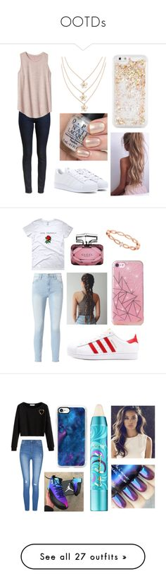 """""""OOTDs"""" by basketballislife11 ❤ liked on Polyvore featuring Barbour, Gap, adidas, ban.do, Frame, Accessorize, Gucci, Holy Ghost, Casetify and tarte"""