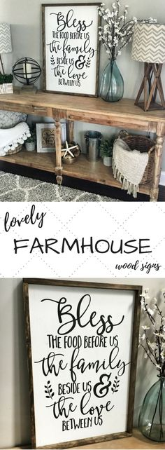 Beautiful #farmhouse #rustichomedecor for the entry or living room!! Love all the signs from this shop on Etsy. Perfect sweet additions for that #cottage feel!!